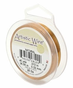 wholesale Artistic Wire 26 Ga. Natural 30yds