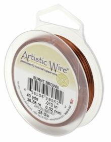 wholesale Burnt Brown 40yds Artistic Wire 28 Ga.