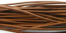 wholesale Light Brown Round Leather Cord 2.0mm, 50