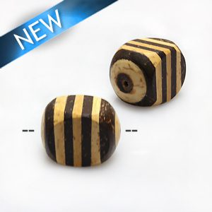 Natural coco irregular insert rondelle wholesale beads