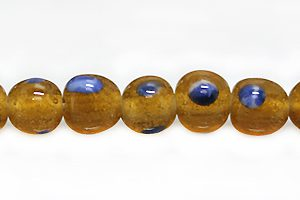 lampwork glass 7-8mm brown wholesale beads