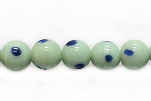 lampwork glass 7-8mm cotton blue wholesale beads