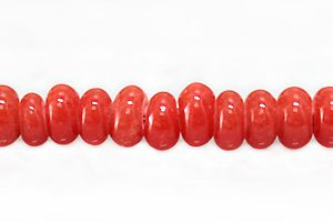 Indonesian glass rondelle red wholesale beads