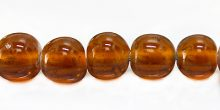 round brown LAMPWORK GLASS beads 14mm wholesale beads