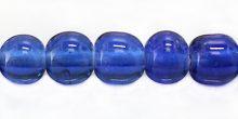 round COBALT blue LAMPWORK GLASS beads wholesale beads