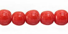 round apple red 12-13mm LAMPWORK GLASS wholesale beads