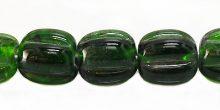 BOTTLE green melon shape lampworks 15mm wholesale beads