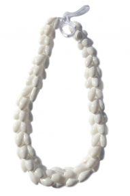 "White Bubble shell necklace 23"" wholesale"