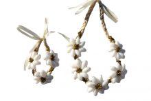 "White bubble shell w/ mongo necklace 15"" wholesale"