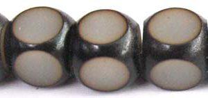 Black and white buri cube 10mm wholesale beads