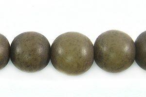 Dark gray buri round 8mm wholesale beads