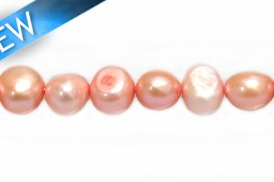 Nugget pearls pink 6-8mm wholesale beads