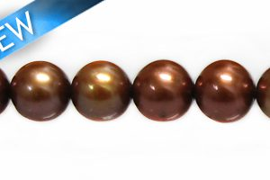 potato pearls brown 8-9mm wholesale beads