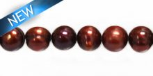 potato pearls wine red 8-9mm wholesale beads
