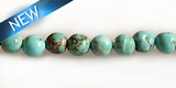 Stab. turquoise 4-4.5mm round wholesale gemstones