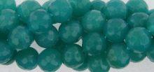 Green jade facted 10mm round beads wholesale gemstones