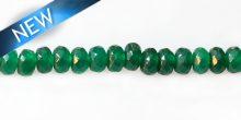 dyed jade green rondelle faceted wholesale gemstones