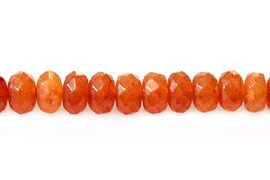 dyed jade orange rondelle faceted 4x2mm wholesale gemstones