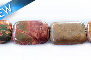 red creek jasper rectangle wholesale gemstones