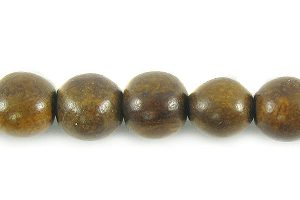 Burnt horn 3-4mm round beads wholesale beads