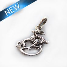 Thai silver charm dragon