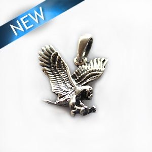 Thai silver charm eagle 15mm