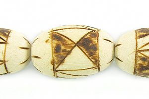 Burnt wood barrel wholesale beads