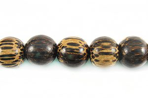 Old palmwood round wholesale beads