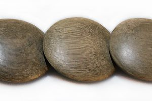 Gray wood round double side disc