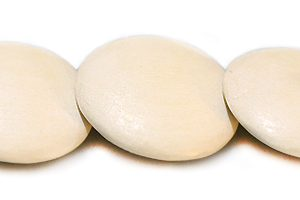 White wood round double side disc