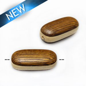 Robles double-sided oval w/ white-wood 24mm