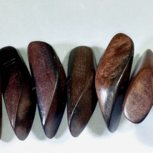 Tiger ebony cone nugget beads
