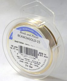 wholesale Artistic Wire 24 Ga. Gold 15ydS