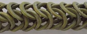 Dyed coco rings khaki green; double 15mm wholesale