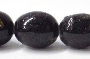wholesale Limestone oval metallic charcoal beads