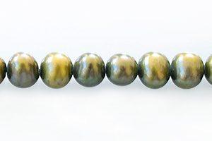 Pearl potato moss green 5-6mm wholesale beads