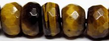 Tiger Eye button faceted 5x8mm wholesale gemstones