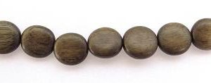 Wholesale Gray wood disc beads