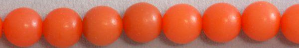 Orange buri round 8mm beads wholesale beads