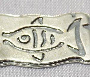 sterling silver Fish Rectangle Link Connector