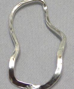 sterling silver Free-Form Hoop Pendant