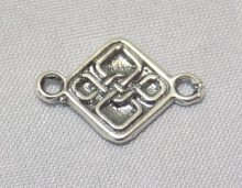 sterling silver Celtic Four Knot Link Connector