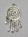 Hamsa Spiral Pendant sterling silver