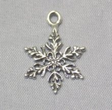 sterling silver Snowflake Cut-Out Drop Pendant