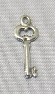 sterling silver Key Charm 12.75mm