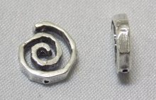 sterling silver Small Swirl Bead