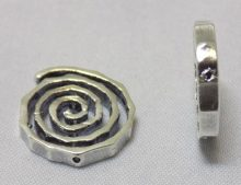 sterling silver Large Swirl Bead