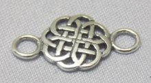 sterling silver Celtic Cut-Out Link Connector