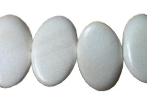 White wood oval wholesale beads