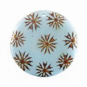 DISC-Majong-majong inlay round light blue